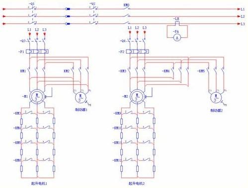 采用变频器输出继电器端子作为制动器油泵电机接触器