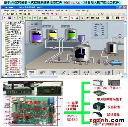 是一款人机界面软件,基于arm架构的嵌入式工控机控制系统开发的嵌入式