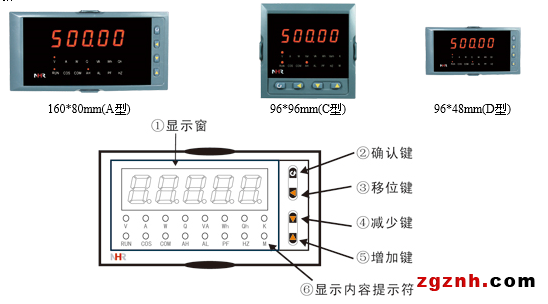 交流电压表-nhr3100系列数字电压表,单相电量表_数显