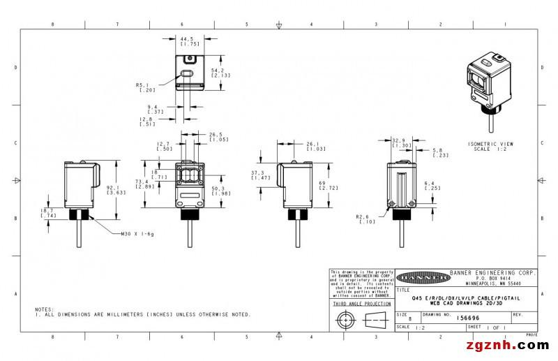 邦纳传感器接线图
