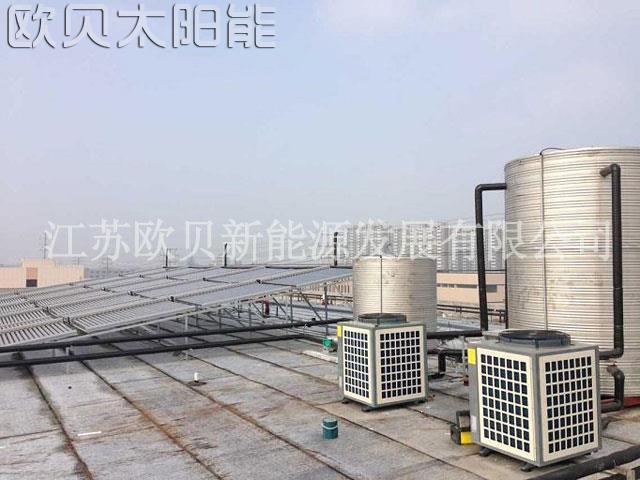 常州卫校120吨空气源热泵工程竣工