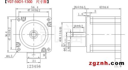 日本信浓57步进电机的力矩曲线图