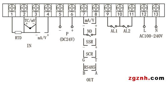 虹润推出导轨式60段程序温控器