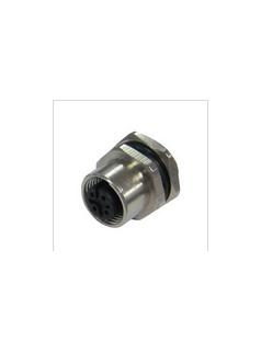 宜科电子ELCO:法兰插座连接器-M12孔座(F)