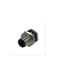 宜科电子ELCO:法兰插座连接器-M12针座(M)