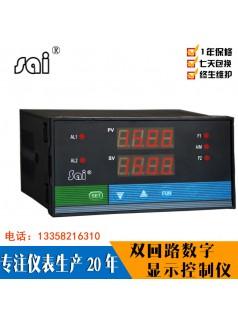 智能双回路数显表双通道电压表电流表温度湿度工业测控仪