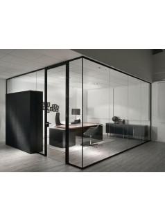 苏州办公室隔断单层玻璃磨砂隔断