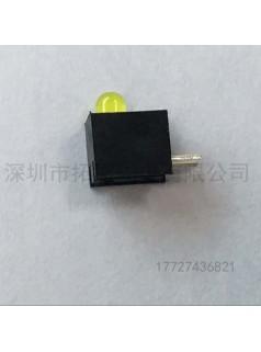 发光二极管F5黄发黄单孔LED灯珠带灯座