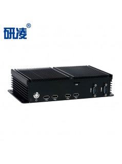 研凌赛扬J1900四核工控电脑双网六串工业自动化主机