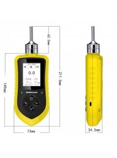 高精度1PPb分辨率便携泵吸式臭氧气体检测报警器