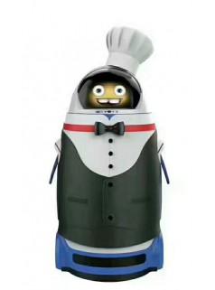 进化者餐厅迎宾服务小胖机器人