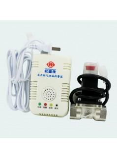 天然气报警器带切断阀-天然气报警器带电磁阀切断装置