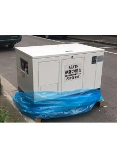 低噪音15KW应急汽油发电机