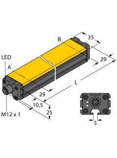 图尔克TURCK感应式直线位移传感器LI100P0-Q25LM0-LIU5X3-H1151