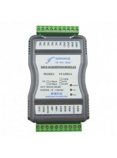 隔离变送器:4-20mA转RJ45多路模拟信号采集转换. 物联网以太网数据采集隔离放大器