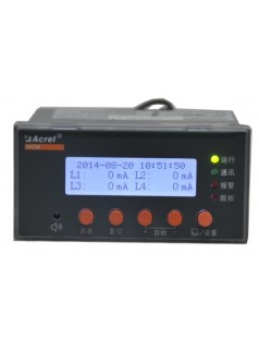 安科瑞ARCM200BL-J1剩余电流式电气火灾监控器,1路剩余电流监测