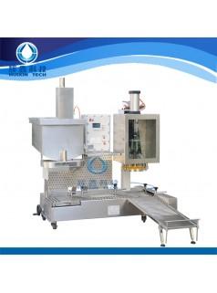 供应广州辉鑫科技 环保灌装机 小型液体定量灌装 灌装压盖一体机