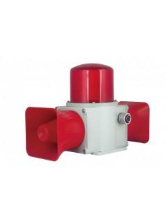 双喇叭 重负荷 LED长亮/闪亮发光 船用声光报警器 铸铝型声光报警灯
