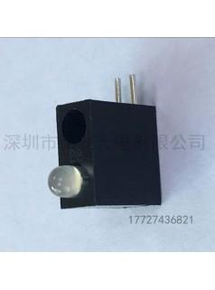 3mm双孔灯座2孔3MM两孔单灯灯座F3方形单灯灯座两孔LED灯座