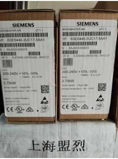 西门子MM440变频器6SE6440-2UC17-5AA1