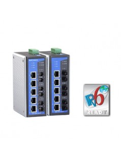 EDS-408A-SS-SC MOXA 2光6电口工业级以太网交换机 单模