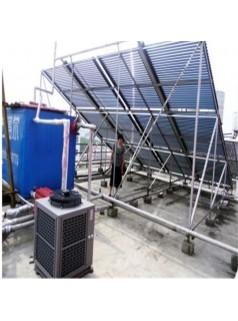 无锡东降派出所2台5匹奥栋空气能机组12组太阳能热水工程