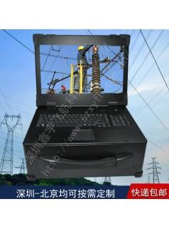 17寸4U外壳军工加固笔记本电脑机箱定制工业便携机一体机采集
