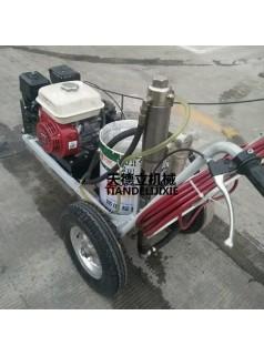 ZS液压柱塞泵马路划线机 单枪柱塞泵冷喷划线机