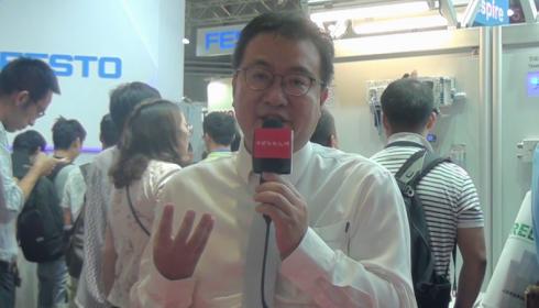 上海工博会费斯托展示数字化控制终端VTEM产品 (179播放)