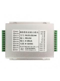 8路模拟信号  隔离D/A转换器0-10V输出