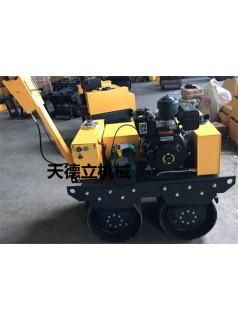 液压缸小型压路机 SL600C手扶双轮振动压路机  柴油动力压路机