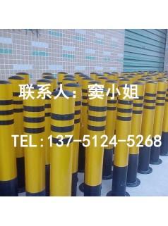 防撞柱烤漆贴反光膜黄黑相间反光警示安全