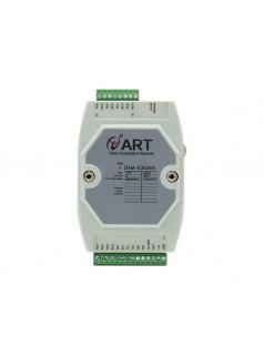 DAM-E3025N为隔离6路DI输入,6路继电器输出模块