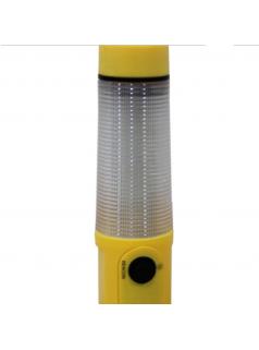 安全锤手电筒 车载多功能USB声光报警破窗器太阳能户外应急工作灯
