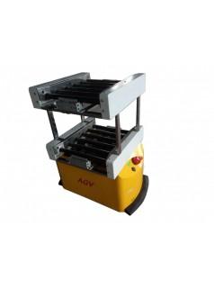 AGV物流机器人 自主导航AGV机器人 双层滚筒自动输送物料