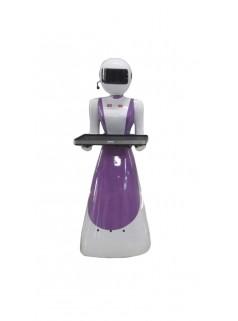 酒店传菜机器人 高科技智能机器人 智能送餐美女机器人 开胜