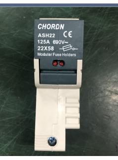 原装桥顿CHORDN AHS22-125A进口熔断器底座
