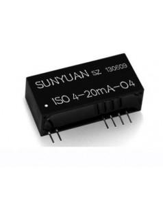 4-20mA转0-2.5V/0-3.3V/0-5V/1-5V电压信号隔离转换器