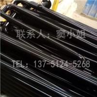 防撞护栏优质黄黑相间一次成型钢管材质烤漆贴反光膜