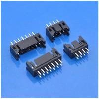 定制黑色款JST PHD2.0间距12P双排直针连接器