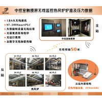 达泰热风炉触摸屏无线监测温度压力数据无线通讯模块