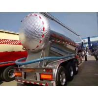 出售38立方铝合金散装水泥半挂车 华宇铝合金粉罐车