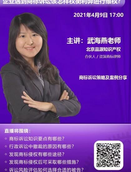 武海燕:商标诉讼策略及案例分享